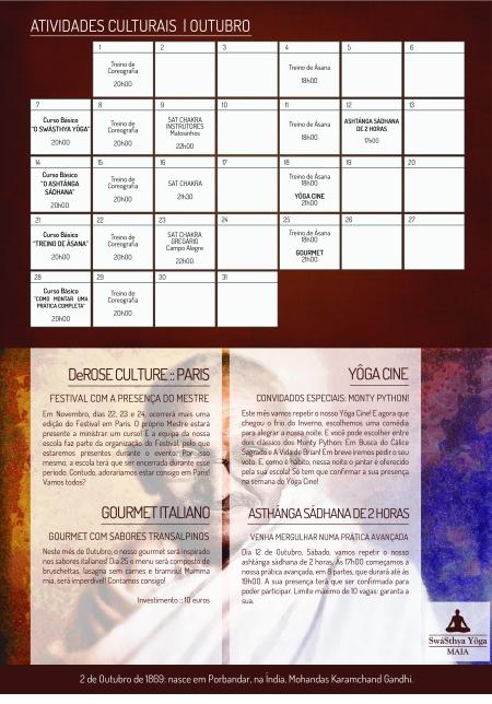 Agenda de Atividades :: Outubro 2013
